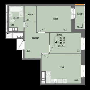2-комнатная квартира в ЖК «Сосновый»