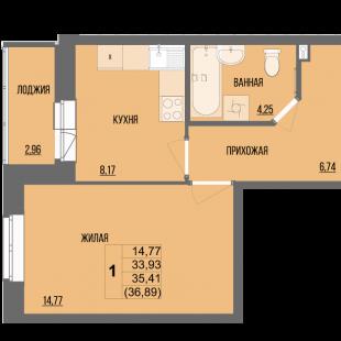 1-комнатая квартира в ЖК «Сосновый»