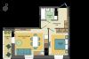 1,5-комнатная квартира