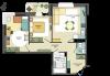 2,5-комнатная квартира